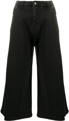 Emporio Armani Mid Rise Cropped Jeans