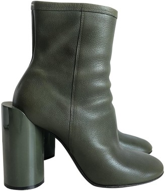 Maison Margiela Green Leather Ankle boots