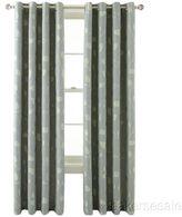 Martha Stewart Marthawindow Hampton Leaf Lined Grommet-top Curtain Panel - Skyline Gray 50 X 95