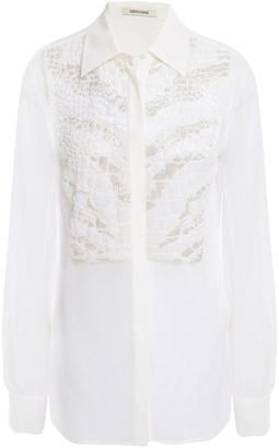 Roberto Cavalli Beaded Silk-chiffon Shirt