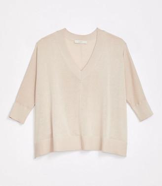 LOFT V-Neck Poncho Sweater