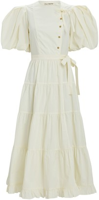 Ulla Johnson Agathe Cotton Poplin Midi Dress