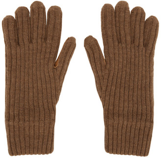 Burberry Brown Cashmere Lined Gloves