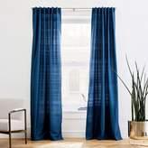 west elm Dupioni Silk Curtain - Regal Blue