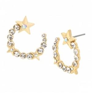Jessica Simpson Star Stone Hoop Earrings
