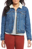 Levi's s Thermore Original Trucker Jacket with Faux Shearling Collar