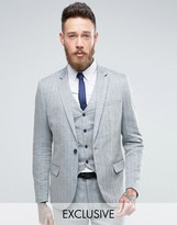 ONLY & SONS Skinny Suit Jacket In Herringbone