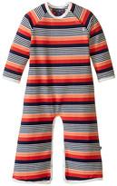 Toobydoo Multi Stripe Long Sleeve Bootcut Jumpsuit (Infant)