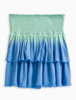 Splendid Girl Dip Dye Frayed Edge Skirt