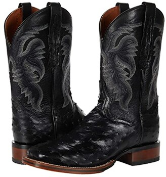 Dan Post Alamosa (Black Ostrich) Men's Boots
