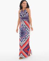 Chico's Scarf Print Maxi Dress