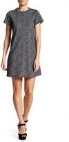 Bobeau Short Sleeve Printed A-Line Dress (Petite)