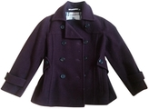Burberry Burgundy Wool Biker jacket