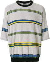 Roberto Collina striped short sleeve jumper