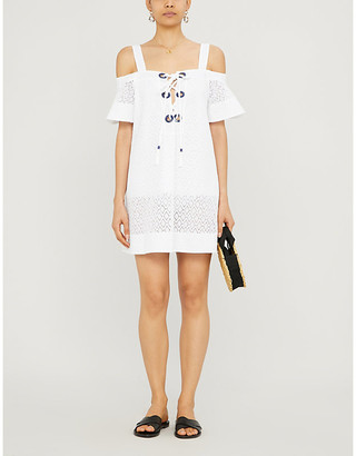 Emma Pake Daria off-the-shoulder cotton-broderie mini dress