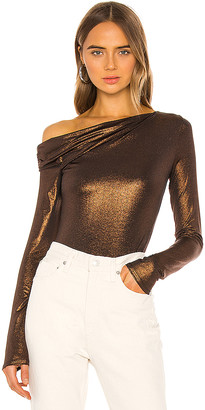 Alix Willett Metallic Bodysuit