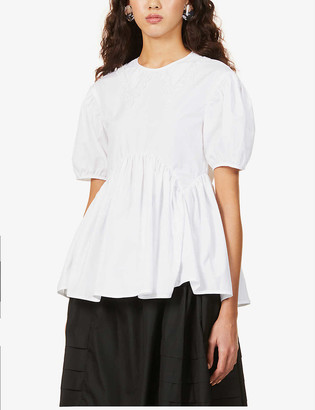 Cecilie Bahnsen Mie puff-sleeve organic-cotton top