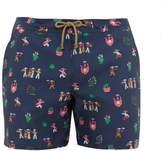 Thorsun - Fiesta Print Swim Shorts - Mens - Navy