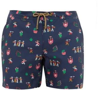Thorsun Fiesta-print Swim Shorts - Mens - Navy