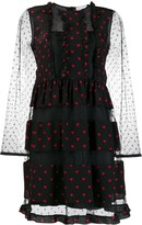 RED Valentino heart print ruffled dress