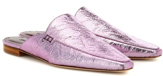Sies Marjan Lia metallic slippers