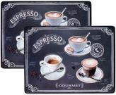 Avanti Coffee House Cork-Backed 2-Piece Placemat Set