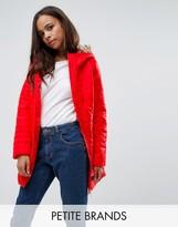 Vero Moda Petite Padded Faux Fur Belted Coat