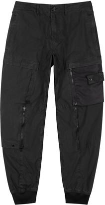 Stone Island Shadow Project Black cotton-blend poplin cargo trousers