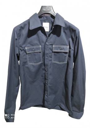Wood Wood Blue Polyester Jackets