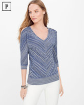 White House Black Market Petite Cold-Shoulder Pullover Sweater
