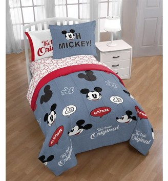 Mickey Mouse Blue and Red Bed in a Bag Bedding Set w/ Reversible Comforter