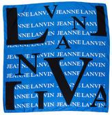 Lanvin Silk Logo Print Scarf