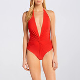 Karla Colletto Basic Low-Back Plunge One Piece