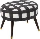 Skyline Furniture Dani Oval Ottoman, Buffalo Black