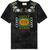 Gucci Slim-Fit Embroidered Printed Cotton-Jersey T-Shirt