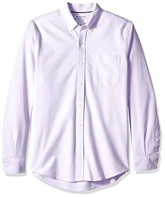 Amazon Essentials Men's Slim-Fit Long-Sleeve Solid Pocket Oxford Shirt