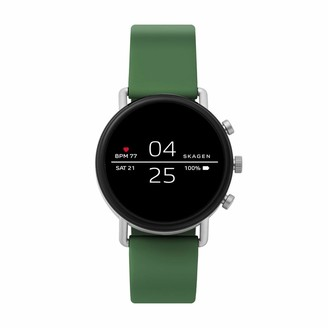 Skagen Connected Falster 2 Stainless Steel and Silicone Touchscreen Smartwatch Color: Black (Model: SKT5100)