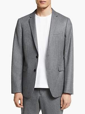 KIN Italian Super 120s Wool Flannel Slim Fit Suit Jacket, Grey