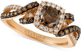 LeVian Le Vian Chocolatier Diamond Swirl Ring (1 ct. t.w.) in 14k Rose Gold