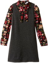 Dolce & Gabbana Back to School Long Sleeve A-Line Dress (Toddler/Little Kids)