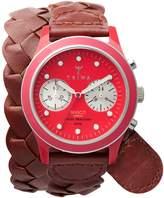 Triwa Women's Women's Fuxy Brasco Leather Wrap Chronograph Watch