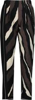 Fendi Printed silk crepe de chine tapered pants