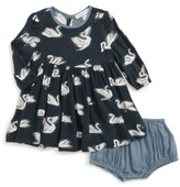 Stella McCartney Infant Girl's Fleur Swan Print Dress