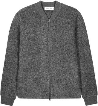 Samsoe & Samsoe Samse Samse Allaro Grey Knitted Bomber Jacket