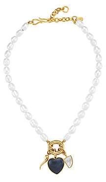 Lizzie Fortunato Women's Cherub Goldplated, Rice Pearl & Multi-Stone Charm Necklace
