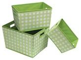 Badger Basket Nesting Decorative Bin Trapezoid - Set of 3 - Polka Dot