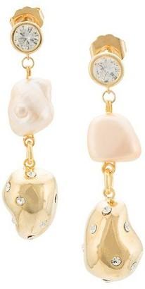 Mounser Evolution Drop Pearl Earrings