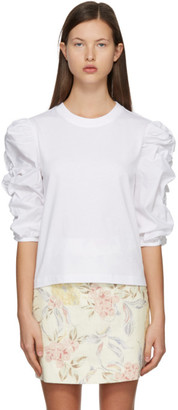 See by Chloe White Puffy Sleeve T-Shirt