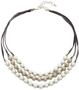 Carol Dauplaise Three-Row Faux Pearl Necklace