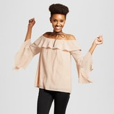 J by J.O.A. Women's Off The Shoulder Bell Sleeve Top